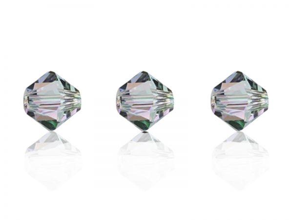 Swarovskiperlen, Doppelkegel, konisch, 5328, 6mm, crystal paradise shine