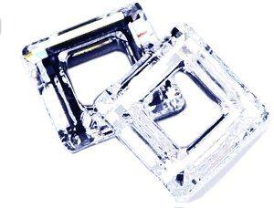 Swarovski Square Ring Anhänger 14mm crystal silver shadow