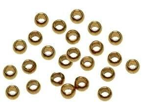 Quetschperlen 2,5mm vergoldet/ca. 300St.