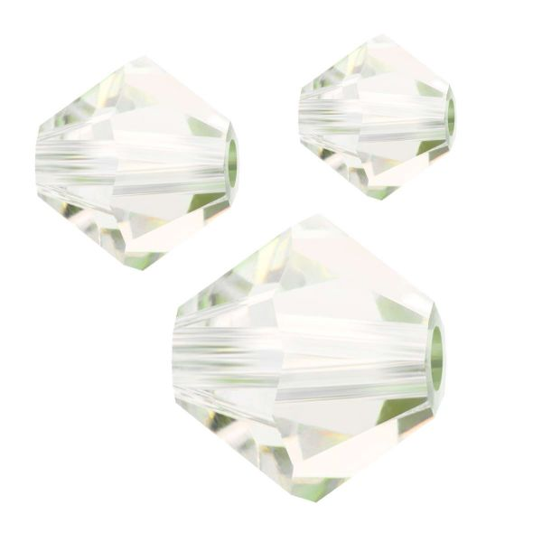 Preciosa Kristall Doppelkegel 4mm 50St., crystal Viridian