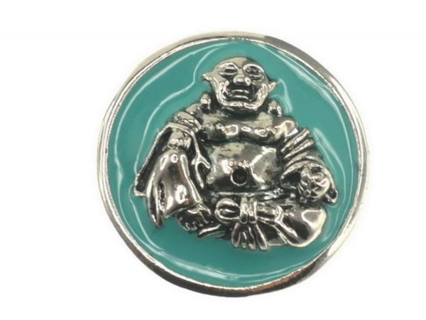 Click-it Button Buddha, 18 mm, türkis