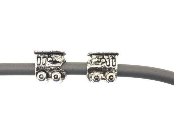 Metallperle mit 4mm Bohrung, ca.10mm, Lokomotive