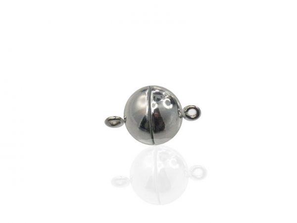 Magnetverschluss Powerclip DE, rund 10mm, 3 Stück, silber glänzend