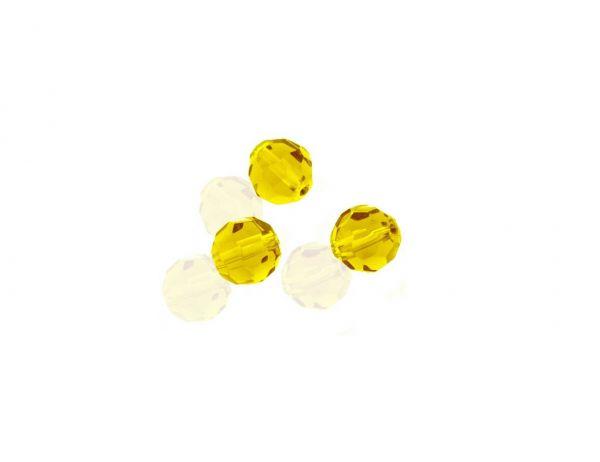 Crystal-Schliffperlen, preiswerte Qualität, 10mm Strang , ca. 35 St, gelb