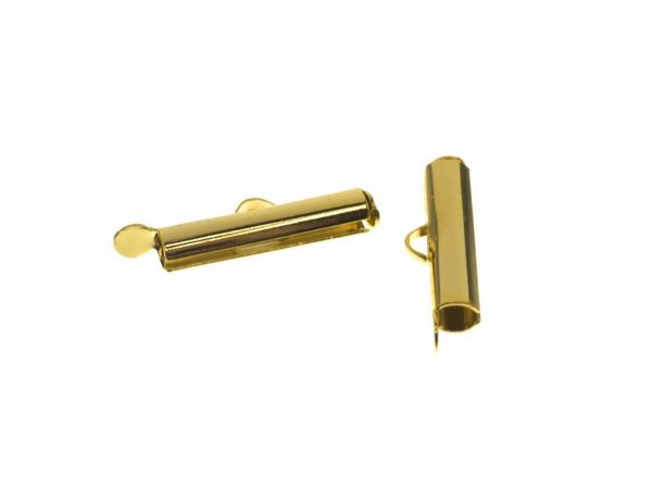 Kettensteg außen 25x5mm, innen 4mm, vergoldet