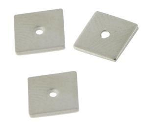 50 Stück Metallquadrat 5,8x5,8mm rhodiumfarbig