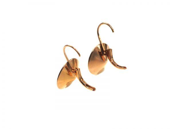 Brissur mit Kessel für 8mm Stein rosegold, 1 Paar