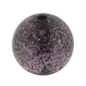 Polarisperle 16mm, 10Stück, Glitter amethyst