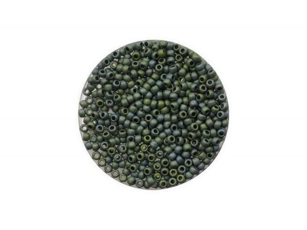 Toho Rocailles 11-0, ca. 2,1mm, 5g, TR512F Higher-Metallic Frosted Blue Haze