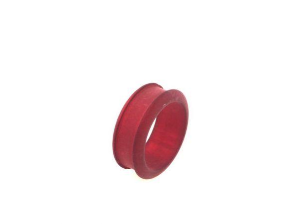 Nice-wire Ring Rohling, Polaris matt, 5 Stück, Grösse 19 rot
