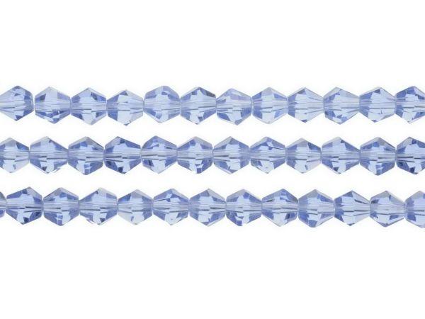 CB Crystalstar Doppelkegel, 6mm, Strang ca.40 cm ca.50St. light sapphire opal