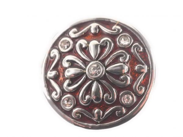 Click-it Button Blume, 18 mm, rot