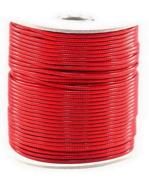 Textilschnur (Polyester) 1mm 1,00m Zuschnitt, rot