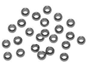 Quetschperlen 2,0mm rutheniumfarbig ca.300St.