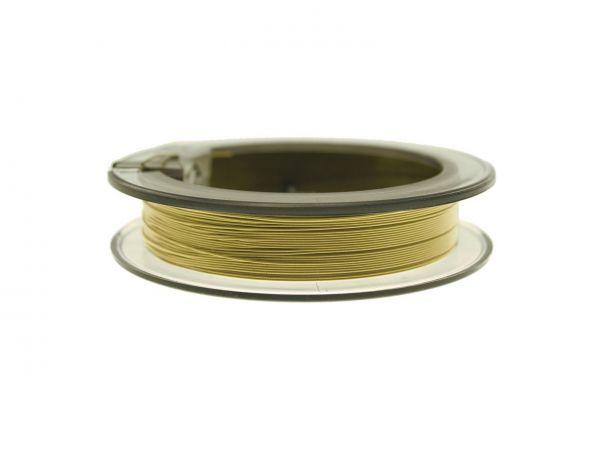 0,36mm Jewelry-Wire metallicgold 49 Stränge 25 m Rolle