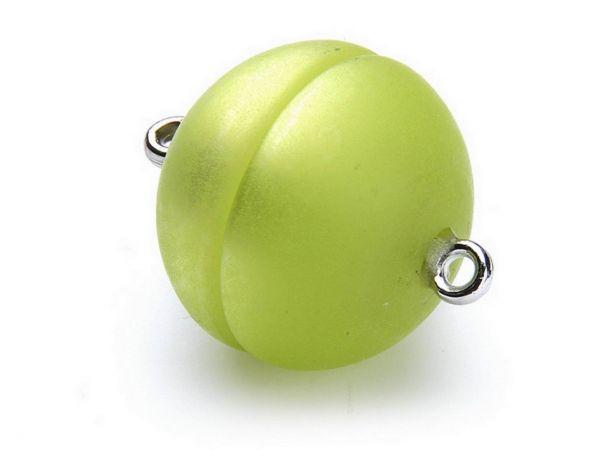 Polaris Magnetverschluß 16mm rund matt apfelgrün