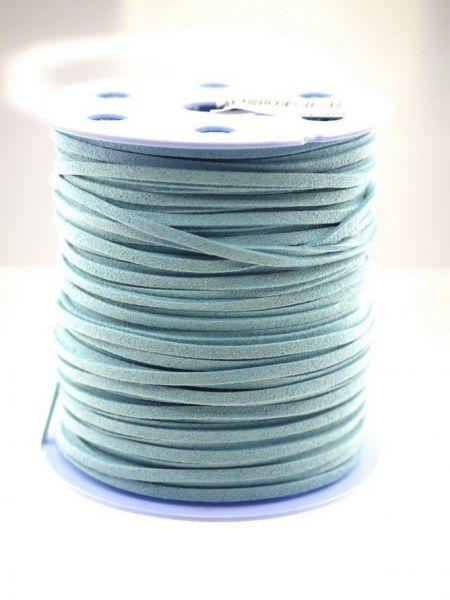 Wildlederimit. A Qualit. 3mm 1,00 m hellblau