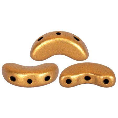 ARCOS® PAR PUCA® 5x10mm 10gr., Glasperlen 2 Bohrungen, bronze gold mat