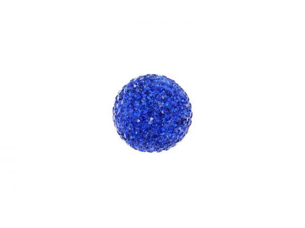 Engelsklingel Klangkugel m. Strass ca. 20mm, blau