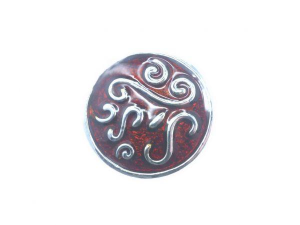 Click-it Button, Ornament, 18 mm, braun