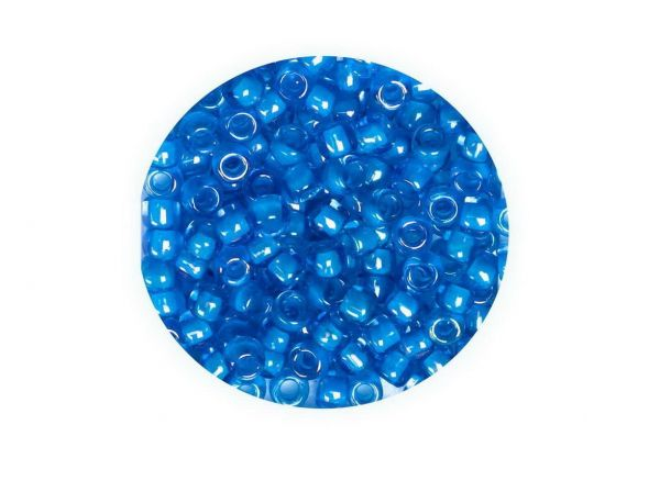 Toho Rocailles 11-0 (ca.2.1mm), 4g, TR43 opaque blue ca.400 Perlen