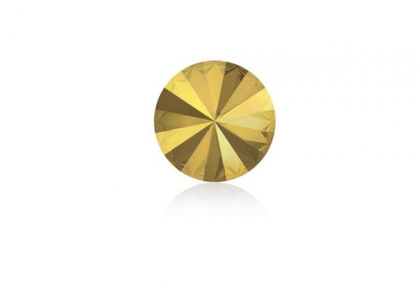 Swarovski - Crystalstein rund 14mm metallic sunshine