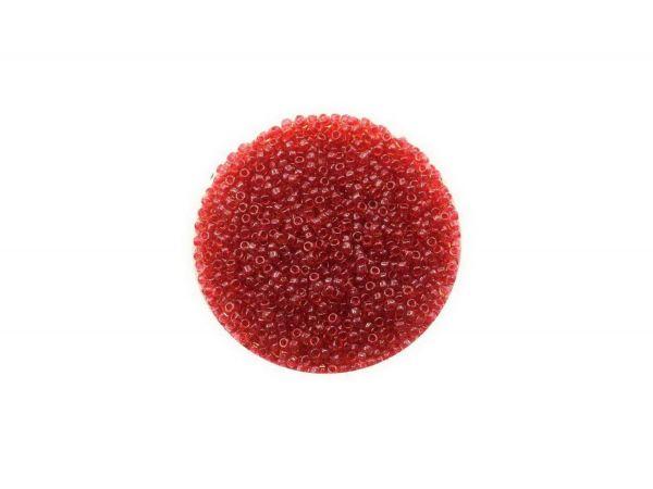 Toho Rocailles, 15-0 (ca. 1,5mm), 10g, TR365 Lt Topaz Pomegranate-Lined