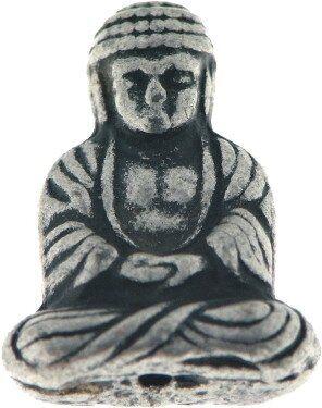 Metallzierteil Buddha 24mm antiksilber