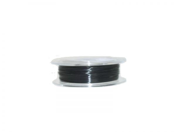 0,4mm Schmuckdraht, nylonummantelt, 1000 m Rolle schwarz