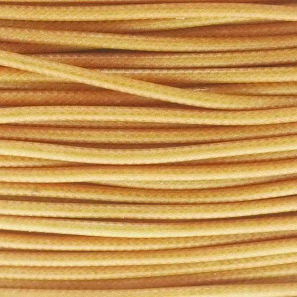 Textilschnur (Polyester) 1mm 1,00m Zuschnitt, gold