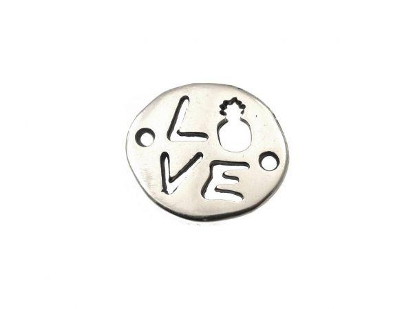 Metallzierteil, Love, 16mm, 1 Stück, gold