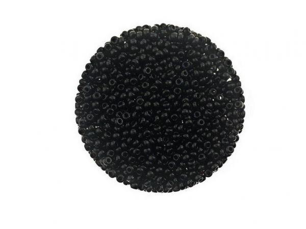 Rocailles 2mm 50g Beutel, schwarz