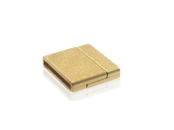 Magnetverschluss Powerclip DE, flach 21x23mm, gold matt