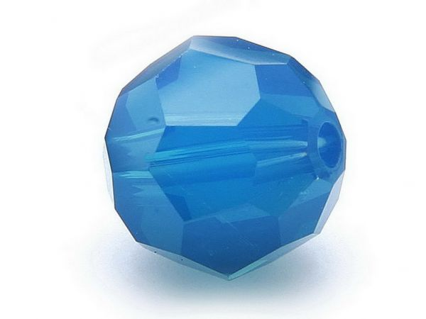 Swarovskiperlen rund, 8mm, 10Stück caribbean blue opal