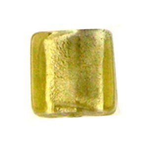 Glasperle Silverfoil, Strang 40 cm,ca.30St. quadrat 12x12mm, olive