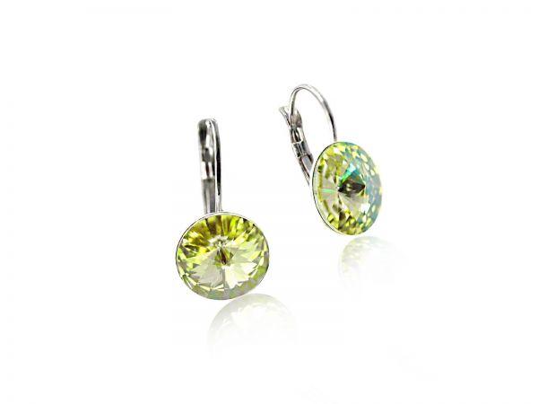 Ohrring Brisur Swarovskicrystal Vitrail 12mm luminous green