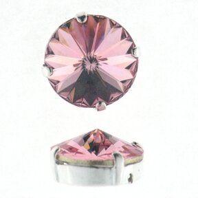 Kessel m.Swarovski-Crystal 8mm light rose