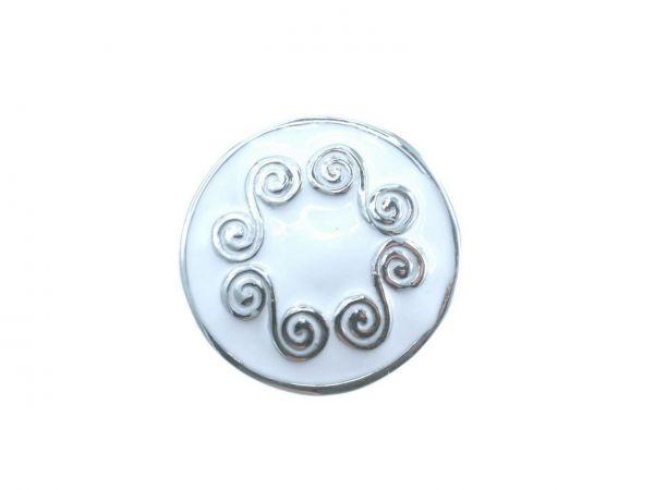 Click-it Button, Ornament Kreise, 18 mm, weiß