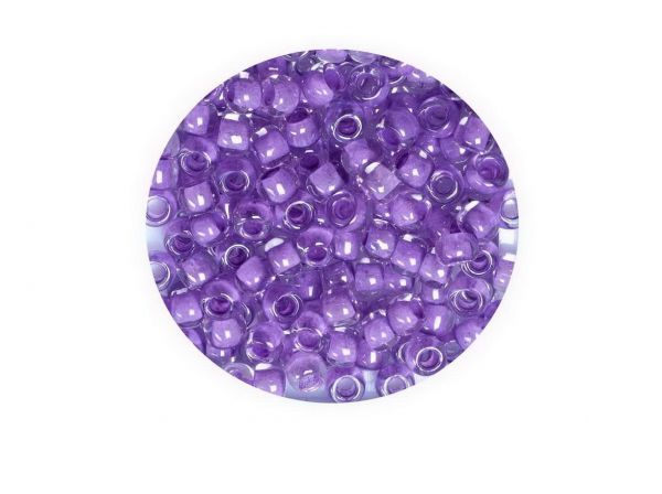 Toho Rocailles 8-0, (ca.3mm), 943, 4g, lilac lined Crystal ca.160 Perlen