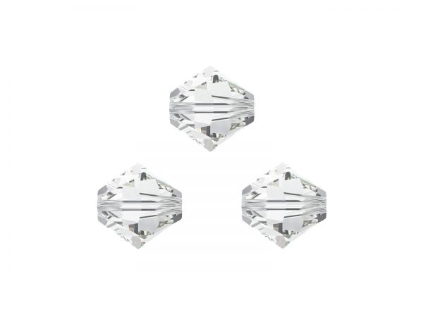 Swarovskiperlen, Doppelkegel, 5328, 3mm, 50Stück, crystal