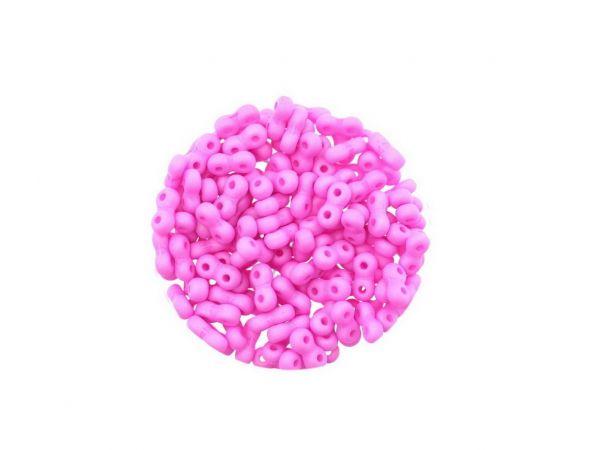 "Glasperle ""Infinity"", 2Bohrungen, 3x6mm, 120St. Dose, matt, pink"