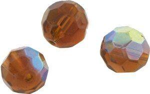 Crystal-Schliffperlen, preiswerte Qualität, 8mm Strang , ca. 45 St, braun AB