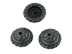 Perlkappe Kunststoff ca.11x4mm antikschwarz