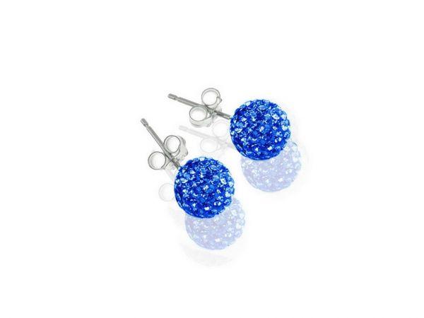 Diamondballs Ohrstecker 6mm Sterlingsilber, sapphire