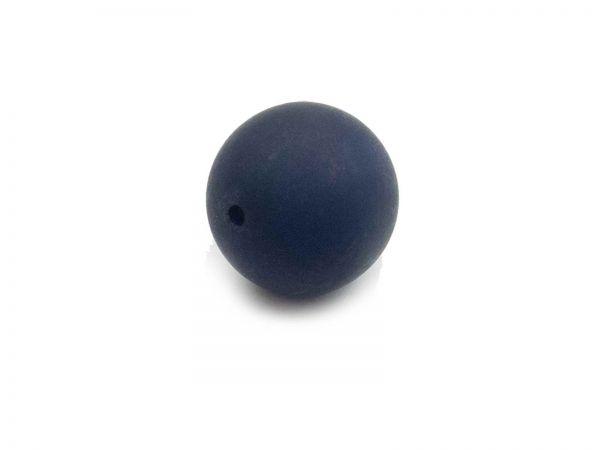 Polarisperle 10mm, 30Stück, matt, nachtblau