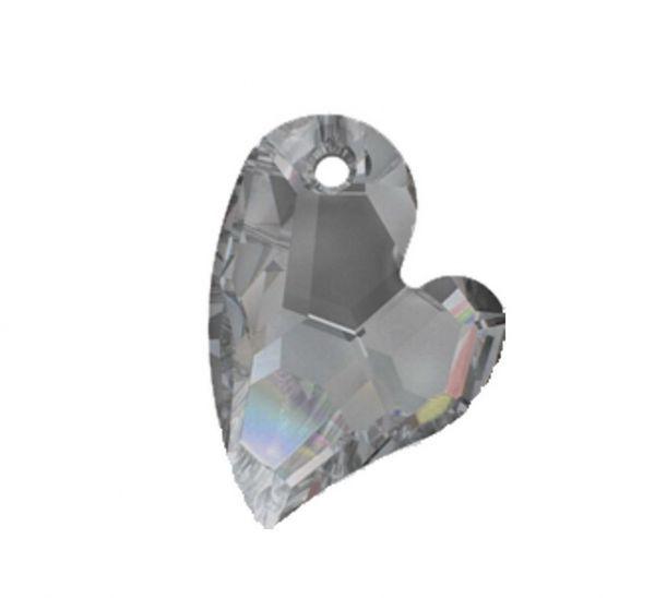 Swarovski Herz Anhänger 6261, 27mm crystal satin