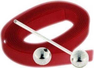 Ringset 10mm Kunststoffband ,länge 10cm+19mm Stab, rot