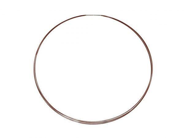 Edelstahl-Halsreif, 0,56mm 7fach, 45cm, braun, Bajonetverschluss