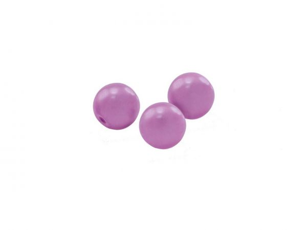 Glas-Wachsperle, 10mm, Str. ca. 40 Stck, light violett