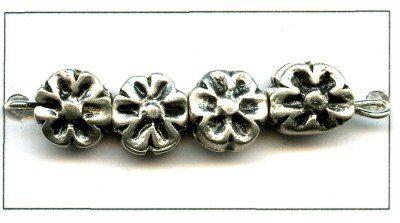 Metallzierteil antiksilber Metallanhänger
